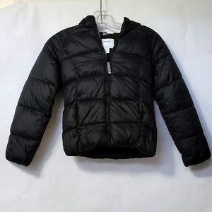 OLD NAVY Solid Black Zipper Puffer Jacket Coat M